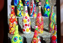 flessen, potten en glas. / mooi! Eenvoudig om te maken. als je tenminste kan schilderen