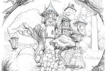 Castles / Mostly sketches of castles / by Todd Brockway