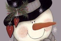 Sneeuwpop schilderen
