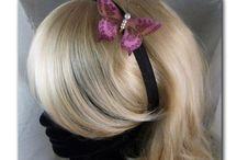 SERRE-TETE,BANDEAUX, HEADBAND / serre-tête, bandeaux, headband, soie, satin, tissu, fleurs et papillons