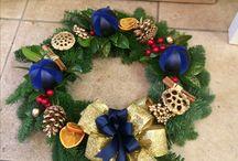 Christmas wreaths / Handmade moss based blue spruce wreaths