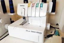 Cover and stitch machine
