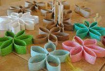 Paper Roll Art / DIY aus Toilettenpapier-Rollen