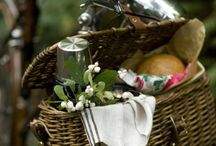 Bike Picnic / Pedaling to your picnic destination along roads less traveled works up a healthy appetite for a satisfying meal. Here's inspiration for al fresco dining that starts with a bicycle basket.  / by velojoy