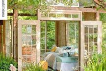 My sheshed / I am dreaming of a safe place in my back yard. The opposite of a man cave. Grow house, craft place, reading nook, sanctuary, DIY, quiet and homy.