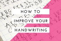 Handwriting + tutorials