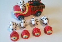 Firefighter firetruck and dalmatians party