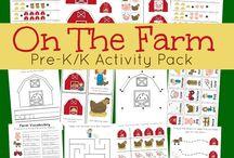 Farm and Gardening activities for preschoolers