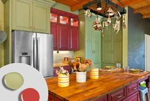 Kitchen Cabinet Color Combinations / Some of the most trending color combinations that you can use while selecting kitchen cabinets. #kitchencabinet #KitchenCabinetTrends / by 27estore.com