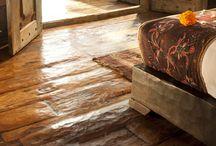 Wooden floor rustic
