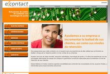 """E contact / http://www.econtactsol.com/ Diseño de sitio, animaciones en Flash y asesorías para la implementación de toda la maquetación de HTML dentro de """"porlets"""" Desarrollado para: Micronext"""