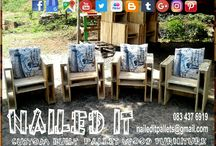 Custom Built Pallet Patio & Outdoor Furniture / Custom built pallet wood furniture, Durban, Kwa-Zulu Natal. We will build your furniture and decor to your specifications and requirements. Indoor and outdoor. If it's made from wood, we'll build it. #palletfurnituredurban #palletfurnitureamanzimtoti #outdoorpalletfurniture #palletfurniturekzn #custompalletfurniture #palletwoodfurniture #custompalletfurnituredurban #custompalletwoodfurniture   #naileditpalletfurniture #naileditpalletfurniture #custompalletfurniture