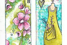 marque page fleurs
