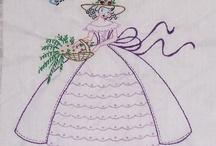 Enxoval / bordados, crochê, pintura, tricô...