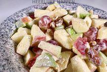 Salades / Mijn collectie salades, waarvan je de recepten kunt vinden op https://heerlijkehappen.nl