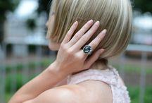 Thin fingers and big designer jewelry / unusual rings, nature stones, gems, beautiful female hand, the combination of thin fingers and big decorations