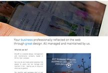 Brand9's website designs / Screen shots of some of our work.