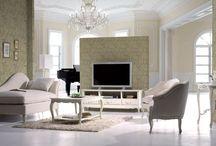 Coleccion de muebles La Rochelle / Los muebles de la coleccion La Rochelle se inspiran el estilo frances. Son muebles fabricados en madera de caoba de manera artesanal.