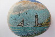 Painted stones-ζωγραφισμένα βότσαλα-