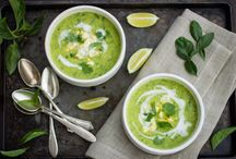 Lovely soups / I love my soups. A great way to eat vegetables and just loooovely in the winter.