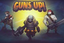 <Guns up!>