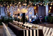 black striped wedding