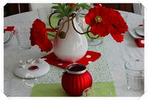 Table coquelicots