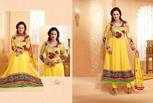 Evelyn Sharma Faux ‪Georgette‬ Anarkali Suits / Exclusive Evelyn Sharma Faux ‪#‎Georgette‬ Semi Stitched Anarkali Churidar Suits.   https://www.asiancouture.co.uk/Indian-designer-brands/Zisa #asiancouture #designerwear #womenswear