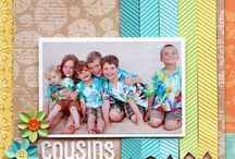 Digital Scrapbooking: Family Layouts