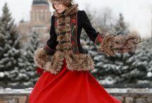 Русский Кафтан, кокошник