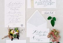 Wedding Invitations / Beautiful invitations, place settings, menus, or anything on paper that we love to covet!