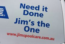 Jim's Pool Care Pins / All about Jim's Pool Care Mobile Pool Shops, their pool service and swimming pools. Call 131 546, www.jimspoolcare.com.au