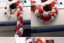 Плетеные тряпичных ковриков