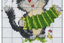 Stitch / Cross stitch, stitch ideas, jar stitch