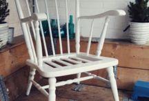 brocante landelijke stoel