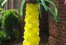 Dekorációk gyümölcsből