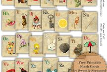 vintage flashcards