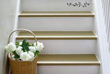 lépcső festés