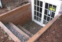 Garden: cellar window