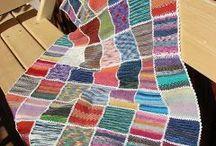 Decke aus Restwolle