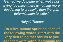 Writers craft / Try to become better than I was when I started