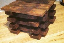 Small stool from pallets / Easy stool from pallet