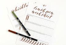 Lettering / Brush lettering + calligraphy