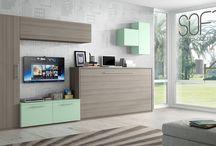 Loft / Loft y grandes ideas para pequeños espacios. Muebles multifuncionales para espacios educidos.