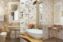 Decoração ♥ Banheiro / Inspirações, ideias e sugestões de decoração de banheiro. Decoração para banheiro pequeno. Ideias criativas para decorar o banheiro.
