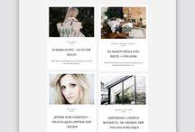 WORDPRESS & BLOGGER THEMES - HERPARK / Feminine premium Wordpress & Blogger themes for creative entrepreneurs by Herpark Studio