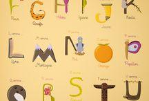 abecedaire / une sélection de jolis abécédaires en tout genre. alphabet