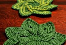 hojas y flores crochet