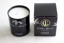 Clifton Beach Black scented candle / Cape Island scented candle
