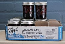 Mason Jar Madness & Jar Collecting / Canning, storing dry food or other items in mason jars or repurposing them for crafts, gifts or anything else! I am a jar collector in general- if it's glass, I keep it!
